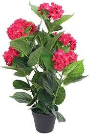 vidaXL <b>Artificial Hydrangea Plant with</b> Pot 60cm Red Realistic Fake ...