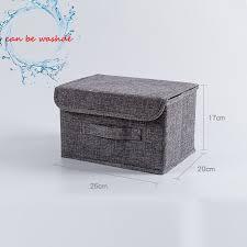 Cotton linen Fabric <b>Folding</b> CD <b>Storage Boxes Foldable</b> Bins Toys ...