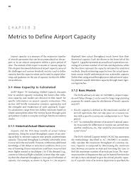 chapter metrics to define airport capacity defining and page 38