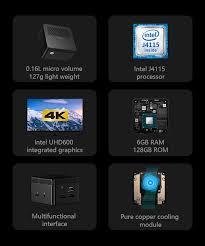 <b>CHUWI LarkBox</b> 4K Mini PC Intel Celeron J4115 Quad Core 6GB ...
