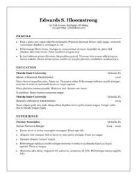 Free Resume Templates Microsoft Word Download  monatskalender     Eps zp chronological resume template microsoft word   microsoft word free resume templates