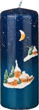 <b>Свеча декоративная</b> Adpal Зимний пейзаж, 348-574, 5,<b>8 х 15 см</b>