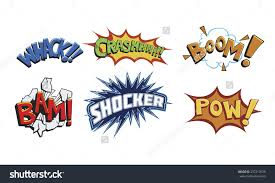 comic book words such whackcrashboombamshocker powaction stock comic book words such as whack crash boom bam shocker and pow
