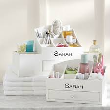 bedroom ideas gray yellow makeup organizer bubblegarm blog post reveals some amazing storage ideas
