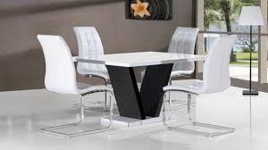 walnut white extending high gloss dining white high gloss dining table and chairs with black base dining table