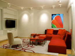 captivating hallway lighting fixtures and modern red sofabed charming living room fixtures