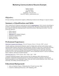 cover letter corporate communication resume customer service manager examples summary of qualification and key proficienciescentral head central head corporate communication resume