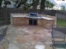 Prefab Outdoor Kitchen Island Curved Stone Prefab Kitchen Island With Gray Concrete Countertop