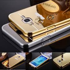 For Galaxy J7 Mirror Aluminum Case For Samsung Galaxy J7