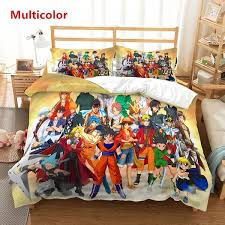 <b>Anime</b> Dragon Ball Z <b>One Piece 3D</b> Bedding Set Children Room ...