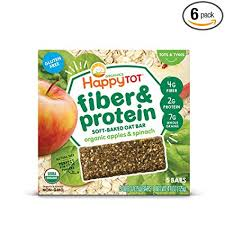 Happy Tot Organic Fiber & Protein Soft-Baked Oat ... - Amazon.com