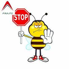 Aliauto забавная Автомобильная <b>наклейка</b> пчела <b>стоп</b> виниловые ...