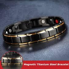 2019 Therapeutic <b>Energy</b> Healing <b>Bracelet</b> Stainless Steel <b>Magnetic</b> ...