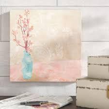 Ophelia & Co. '<b>Vase</b> of <b>Cherry</b> Blossoms II' <b>Painting</b> on Canvas ...