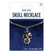 Adult <b>Gothic Skull</b> Necklace Accessory <b>Halloween</b> Costume : Target