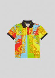 Versace <b>Детская рубашка поло</b> с принтом <b>Summer</b> Capsule для ...