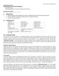 microbiology lab report  microbiology lab report