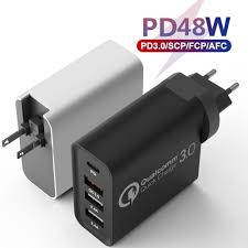 <b>48W</b> PD <b>Charger</b> Delivery Turbo USB C Multi Quick <b>Charger</b> 3.0 ...