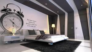 black stripe color wall decoration bedroom color ideas with modern bedroom furniture also giant desk clock black bedroom furniture wall color