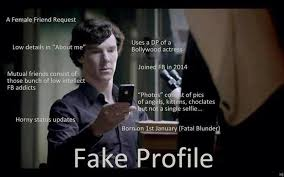 Detecting A Fake Facebook Profile - You Are Sherlocked! via Relatably.com