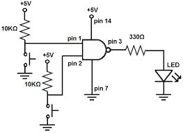 how to build a nand gate logic circuit using a 4011 chip nand gate circuit using 4011 chip