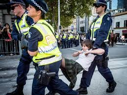 Image result for student protest arrest melbourne