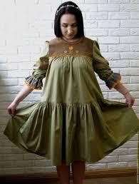 Платье из хлопка с ручной вышивкой/Бохо стиль/Русский стиль ...