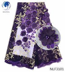 <b>BEAUTIFICAL</b> Purple <b>french lace</b> fabrics Latest elegant 3d ...