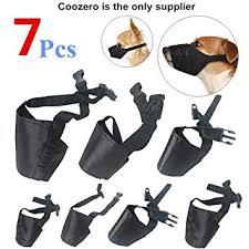 <b>Dog Muzzles</b> Suit, 7 PCS Anti-Biting Barking <b>Muzzles Adjustable</b> ...