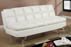 white leather twin size sofa bed  stealasofa furniture outlet
