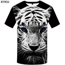 <b>KYKU Brand Tiger</b> T Shirt Black Shirts White Tshirt Animal T-shirt ...