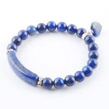 <b>Natural Lapis Lazuli</b> Bangle Bracelet Reviews - Online Shopping ...