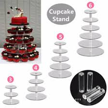 vonterp square transparent 4 tier acrylic cupcake display stand acrylic cake stand with base square 4 between 2 layers