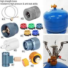 Gas <b>Refill</b> Tank Adapter <b>Outdoor Camping Stove</b> Gas Cylinder Gas ...