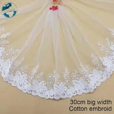 27cm big <b>width</b> white <b>lace</b> cotton <b>embroidery lace</b> french <b>lace</b> ribbon ...