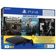 Купить <b>Игровая приставка Sony PlayStation</b> 4 Slim 1 ТБ черный + ...