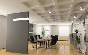 awesome modern office interior design with longue desk combined excellent contemporary meeting room of applying wooden chic front desk office interior design ideas