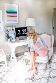 this home office is every fashion girls dream cheerful home office rug