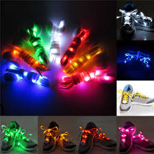 <b>1 pair nylon</b> led flashing light up glow shoelace Sale - Banggood.com