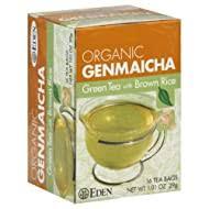 Eden Foods - <b>Organic Genmaicha</b> Green Tea with <b>Brown</b> Rice - 16 ...