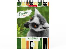 <b>Блокнот ErichKrause Lemur Style</b>, в клетку, A6, 60 листов, 10 шт