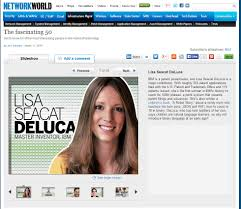 lisa seacat deluca engineer inventor author keynote speaker network world fascinating 50 12th 2014