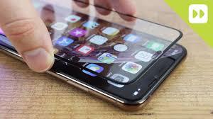 Olixar iPhone XS Max <b>Full Cover Glass Screen</b> Protector Installation ...