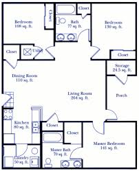 Apartments In Kalamazoo MI   Floor PlansThree Bedroom Floor Plan