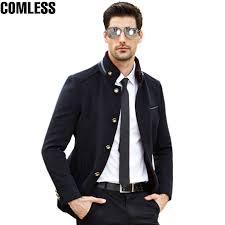 <b>Winter Thicken Warm</b> Overcoat Mens Wool Coat Men Stand Collar ...