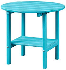 Outdoor Side Tables - Blue / Side Tables / Tables ... - Amazon.com