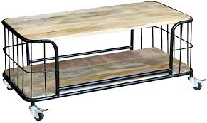 Furniture Supplies UK <b>Coffee Table</b> Solid Mango Wood <b>100x50x35 cm</b>