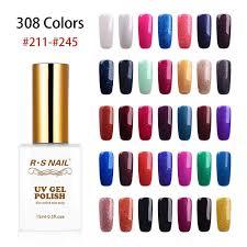 <b>RS NAIL 15ml</b> Gel Lacquer <b>Uv</b> Resin A Set Of Gel Varnishes Unhas ...