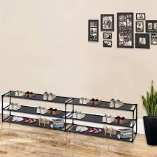 3 Tier Steel Shoe <b>Rack Shelf Detachable</b> Non-Woven Waterproof ...