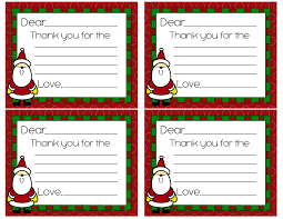 christmas thank you cards super coupon lady santa red boarder